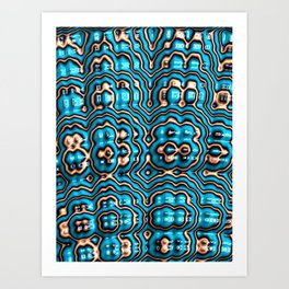 Bits and Blobs - Fractal Art Art Print
