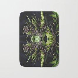 Purple Cannabis Plant Bath Mat
