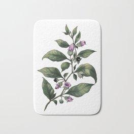 Belladonna. Deadly nightshade. Magic herbs  Bath Mat