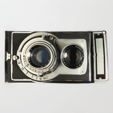Vintage Camera Beach Towel