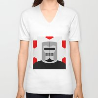 knight V-neck T-shirts featuring Knight by Vipes