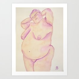 Happy In My Own Skin Art Print