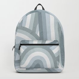 Beachy Blue Stripes Pattern Backpack