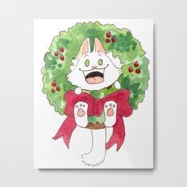 Lupin in a Wreath Metal Print