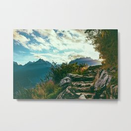 Hiking (Color) Metal Print