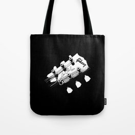 Gibson Les Paul Head - Guitar - Rock and roll -Blues - Music Tote Bag
