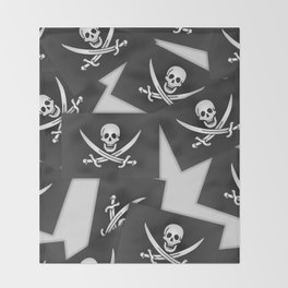 The Jolly Roger of Calico Jack Throw Blanket
