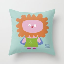 """Super Leona"" Throw Pillow"