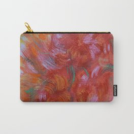 Colorful Flower Bouquet Abstract Wall Art, Red Orange and yellow Carry-All Pouch
