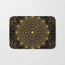 Geometric Circle Black and Gold Bath Mat