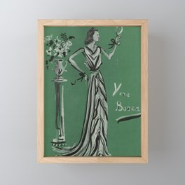 French Fashion Couture 1937 Framed Mini Art Print