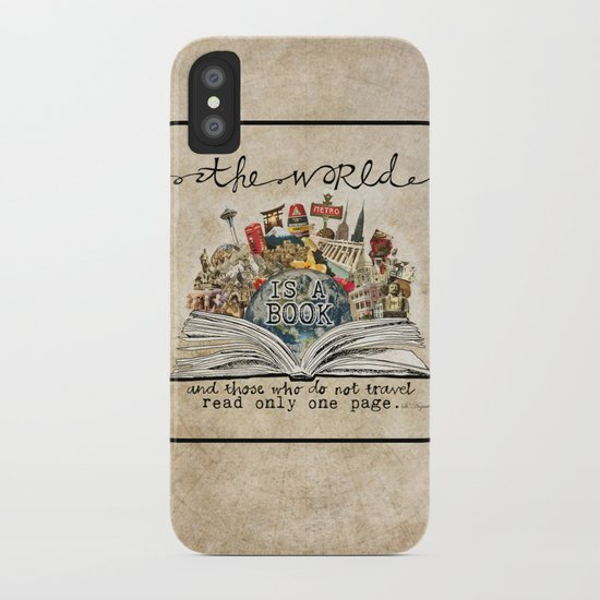 The World Is A Book iPhone Case