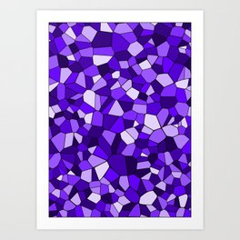 Violet Purple Blue Mosaic Pattern Art Print