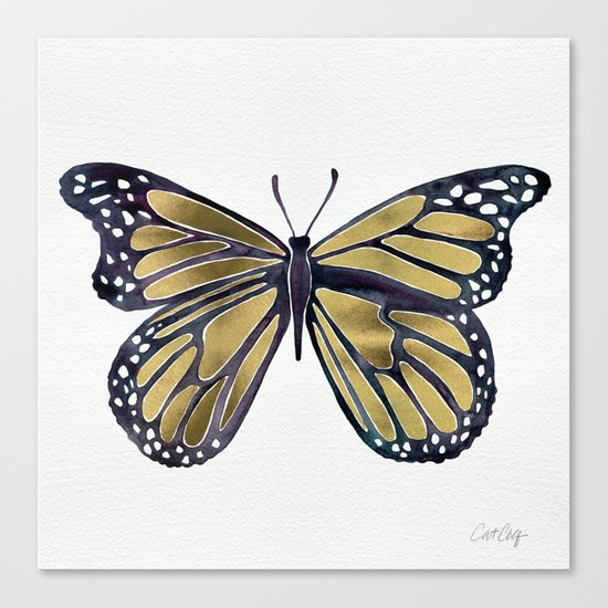 Gold Butterfly Canvas Print