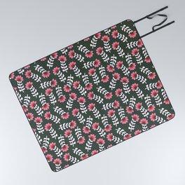 Camelita Retro Folk Flower Picnic Blanket