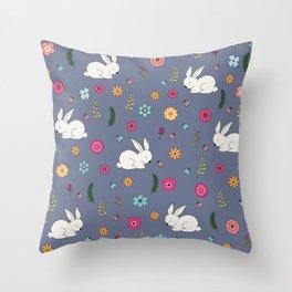 Easter bunny Throw Pillow