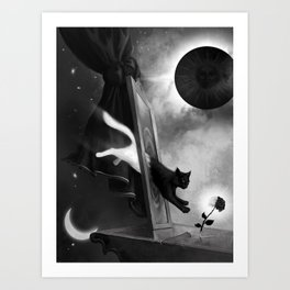 I'll be the light in a universe of darkness. Art Print