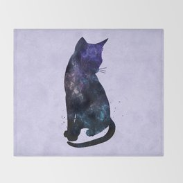 Galactic Cat Throw Blanket