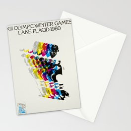 Advertisement lake placid 1980 xiii olympic Stationery Cards