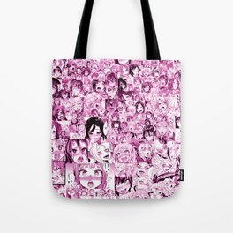 Ahegao Hentai Collage pink Umhängetasche
