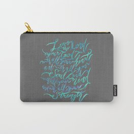 Love the Lord - Mark 12:30 Carry-All Pouch