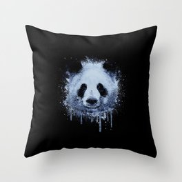 Painted Panda Throw Pillow