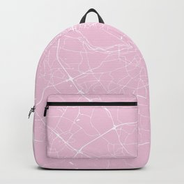 Dublin Street Map Pink and White Backpack