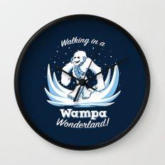 Walking in a Wampa Wonderland Wall Clock