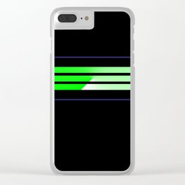 Team Colors....lime green,navy Clear iPhone Case
