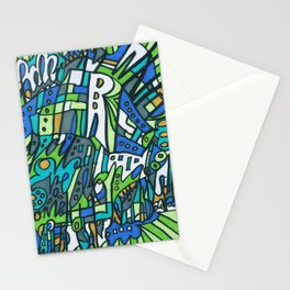 Feel This Real Forever (green) Stationery Cards