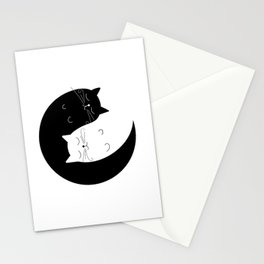 Ying yang cats Stationery Cards