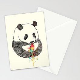 Panda Loves Ice Cream Stationery Cards