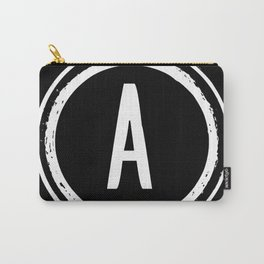 Letter A Monogram Carry-All Pouch
