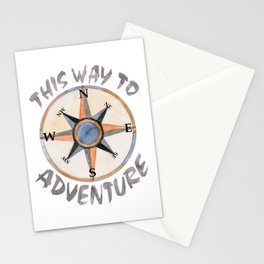 Adventure This Way Stationery Cards