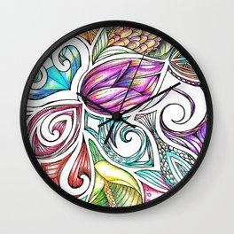Lotus Maori Huia Art Wall Clock