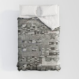 Highly Resolved Ghost (P/D3 Glitch Collage Studies) Comforters