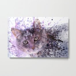 Miss Kitty Unleashed! Metal Print
