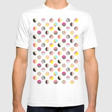 Fun Circle MEDIUM Mens Fitted Tee White