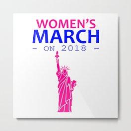 Women's March On 2018 Metal Print