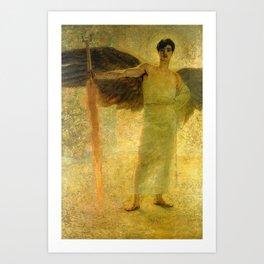Handsome Golden Angel Art Print