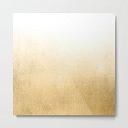 Gold Ombre Metal Print