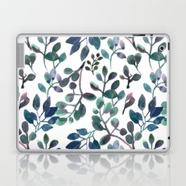 Jade and Succulent Watercolor Plant Pattern Laptop & iPad Skin