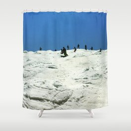 Spring Skiing on Superstar Shower Curtain