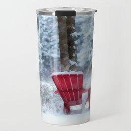 Winter Arrives on Anderson Pond Travel Mug