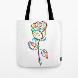 Pop-art rose Tote Bag