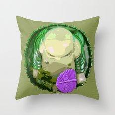 buddha [green] Throw Pillow
