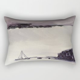 storm with heavy fog in Newfoundland Rectangular Pillow