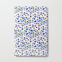 Watercolor abstract pattern pattern Metal Print