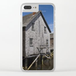 Lunenburg Dory Shop Clear iPhone Case