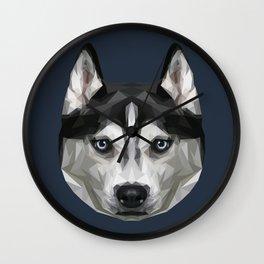 Husky // Navy Wall Clock